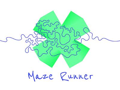 Maze Runner maze illustration colours graphics line