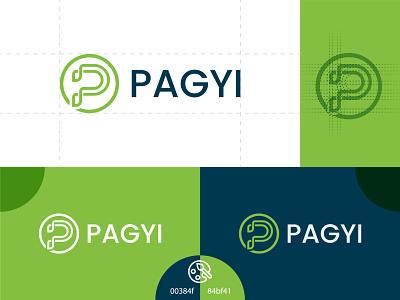 Pagyi P letter logo modern new best business company letter p p font p letter illustration design branding best logo modern logo logo expart logo design branding company logo abstract lgoo
