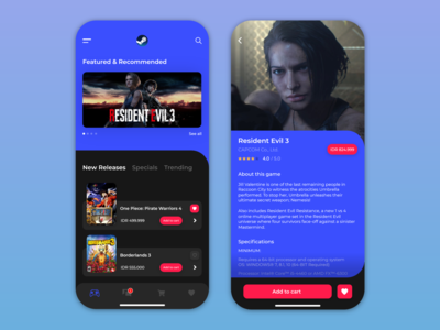 Steam mobile app redesign