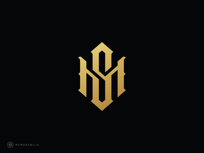 hsn monogram logo monogramlogo monogram simple logos designlogo minimalist flat logodesign branding design branding and identity branding adobe illustrator
