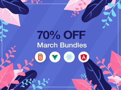 March Bundles off leaves draw march spring campaing vuejs html5 angular react bundle material design ui kit dashboard web design responsive bootstrap 4