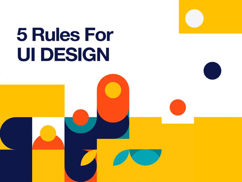 5 Rules For UI Design daily ui design daily inspiration draw illustration carousel developer designer design rules patterns pattern ui kit ui web design responsive bootstrap 4