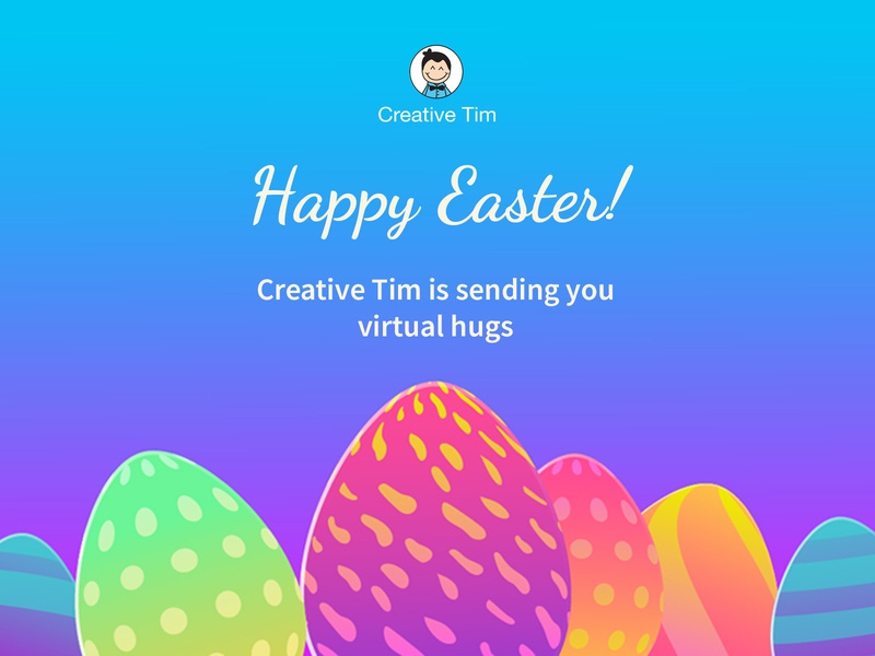 Happy  Easter! 🐰 holiday design gradiant development easter egg easter web design