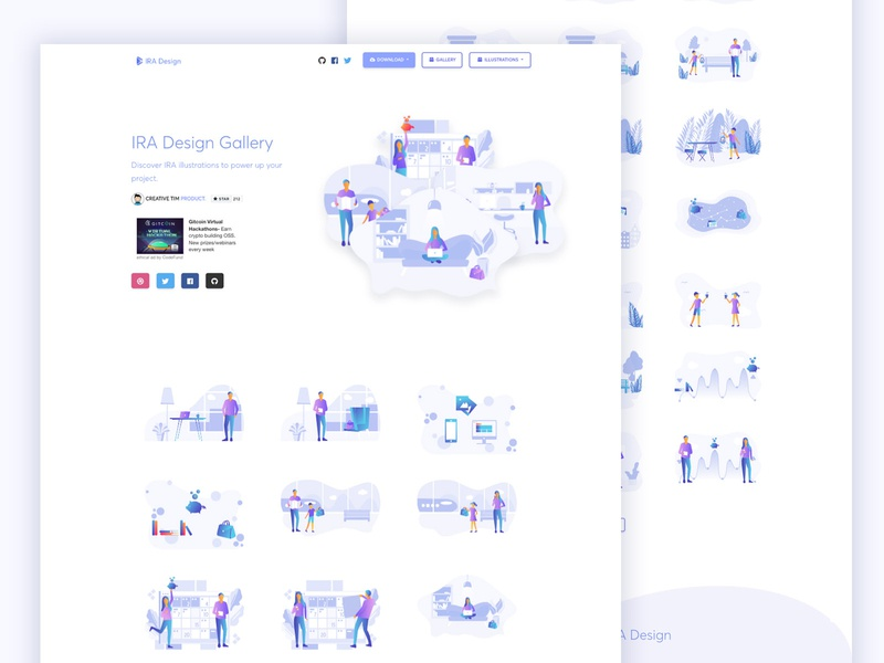 IRA Design gradient vector sketch gallery object illustration art draw background character ai png svg freebie free illustration illustrator