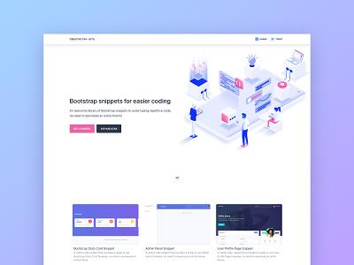 Bootstrap Snippets illustration code development design ui kit dashboard bootstrap 4 web design responsive freebie snippets snippet bootstrap