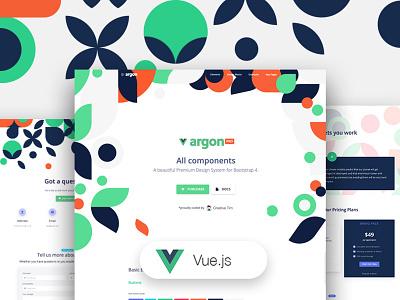Vue Argon Design System PRO profile page carousel ecommerce landing page development pattern input button contact us vue.js vuejs vue design gradient ui kit responsive web design bootstrap 4