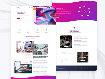 Case Study Page icons blog post footer button logo bootstrap development code example feature landing image typography case case study glassmorphism gradient ui kit responsive web design