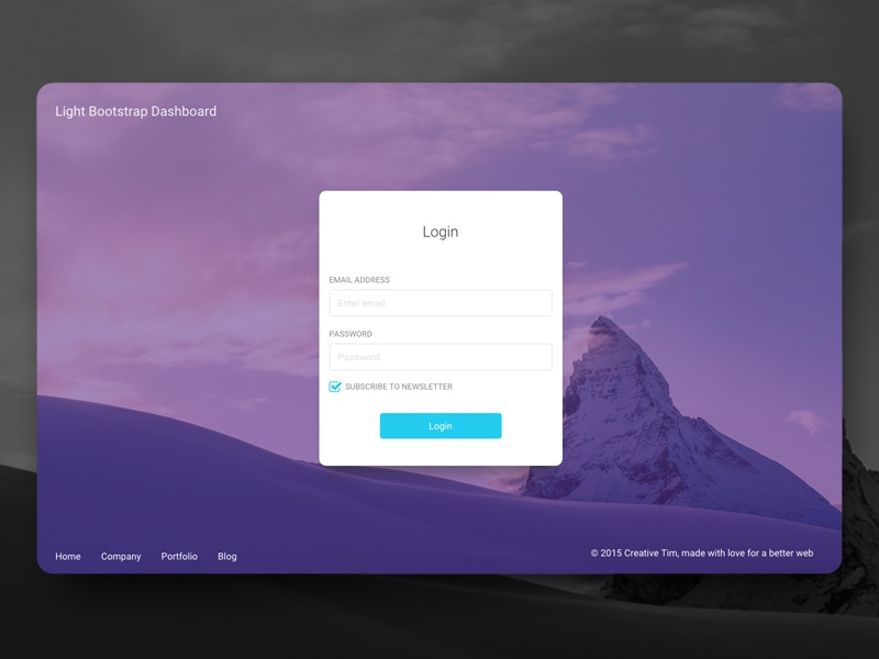 dashboard login page by creative tim dribbble dribbble