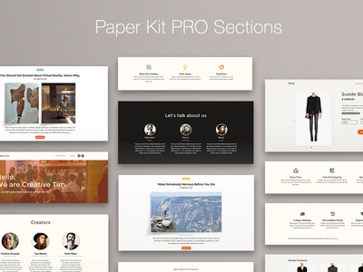 Paper Kit PRO Sections