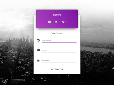 Sign Up page ui kit bootstrap material design sign up modal sign up