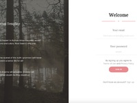Gaia - Login Page by Creative Tim on Dribbble