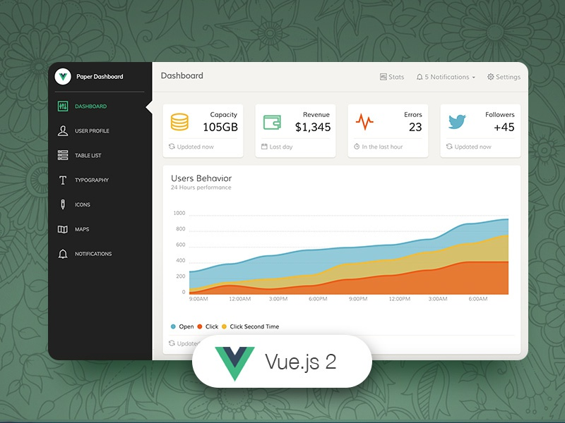 Download Vue Paper Dashboard