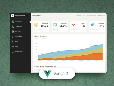 Vue Paper Dashboard