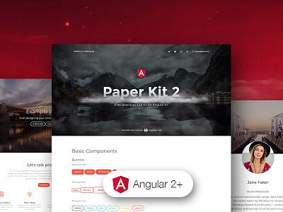 Paper Kit 2 Angular angular 2 bootstrap ui kit ui bootstrap 4