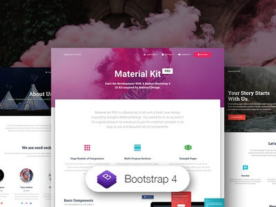 Material Kit PRO, Bootstrap 4 UI Kit bootstrap 4 ui kit bootstrap material design material design premium product kit ui bootstrap4