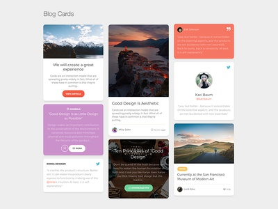 Paper Kit 2 Pro - Blog Cards responsive examples components bootstrap 4 ui kit bootstrap design premium product kit ux ui bootstrap4 blog cards