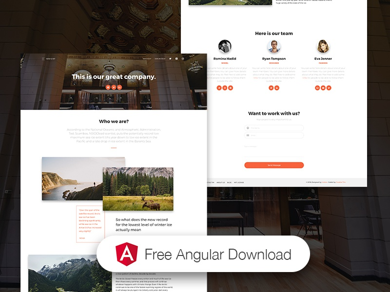 Landing Page - Now UI Kit Angular FREE ❤️ by Creative Tim on Dribbble
