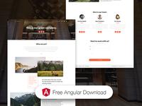 Landing Page - Now UI Kit Angular FREE ❤️