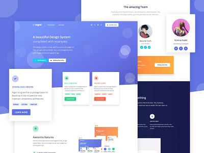 Argon Design System 🔮 gradient profile page free ui kit illustration bootstrap 4