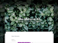 Vue Material Kit Free