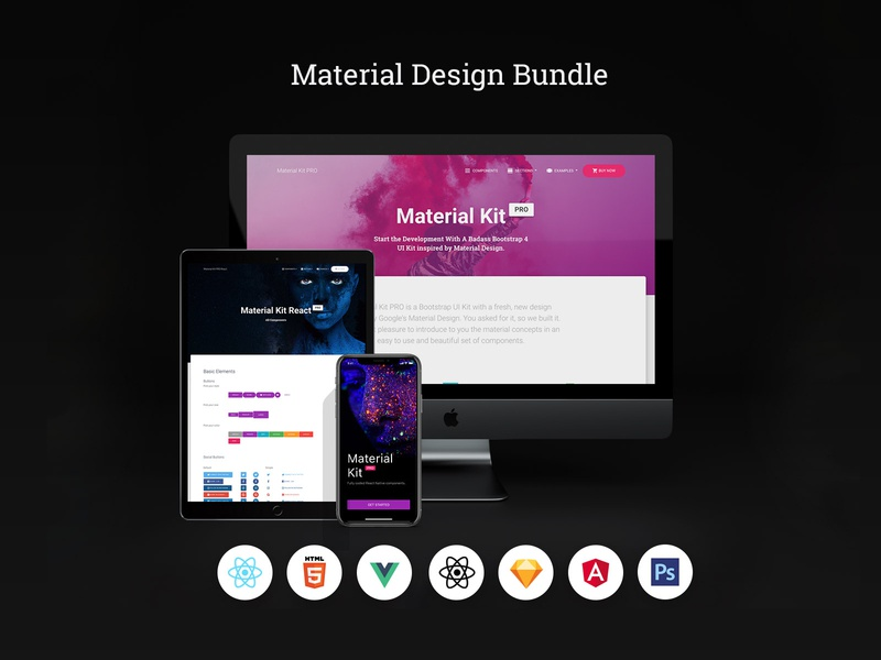 Material Design Bundle by Creative Tim on Dribbble