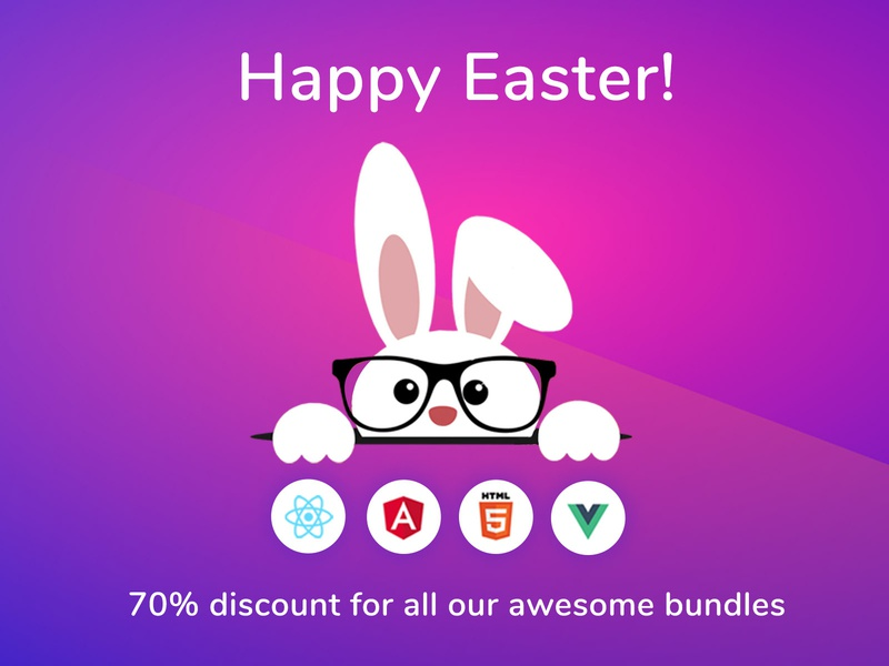 Happy Easter 🐰! html5 vue react angular ui kit bootstrap ui kit web design dashboard bootstrap 4 easter