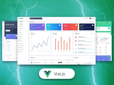 Vue Argon Dashboard Pro gradient design code web design chart admin template ui kit bootstrap 4 dashboard responsive design systems vue vue.js