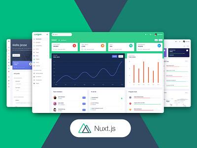 Nuxt Argon Dashboard PRO design system gradient nuxtjs progress bar table profile page chart admin template web design design bootstrap 4 responsive dashboad