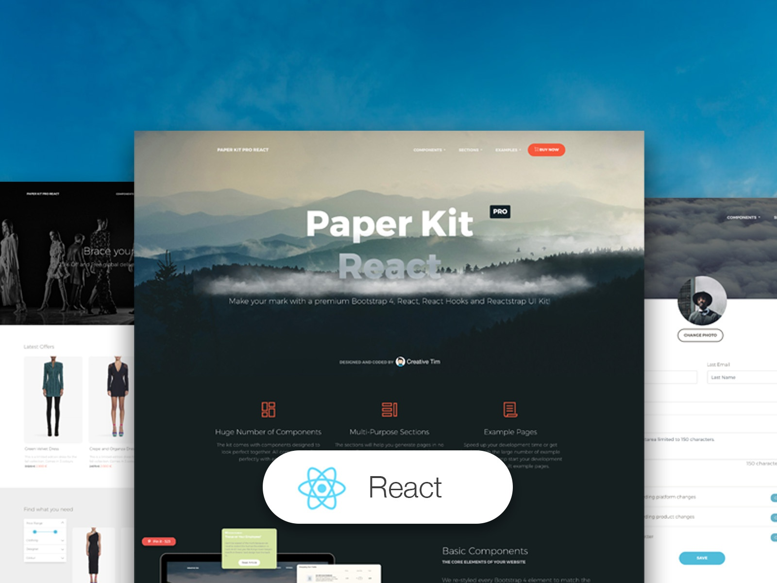 Paper Kit PRO React by Creative Tim on Dribbble