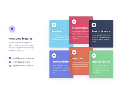 Argon Design System PRO examples sketch angular html design system card design cards feature features daily ui palette colors design ui kit gradient illustration web design responsive bootstrap 4