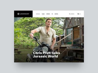 Legendary (Pitch) – Article Hero hero image article website chris pratt jurassic world legendary