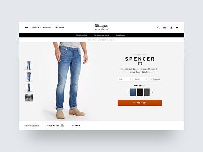 Wrangler Europe FW16 – PDP pdp product detail page wrangler jeans ecom denim