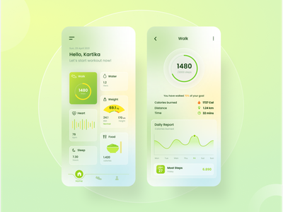 Health Assistant App figma healthy app interface interfacedesign ui