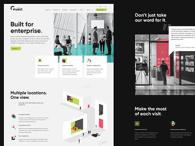 Website redesign website minimal web branding ui illustration enterprise visitor management design
