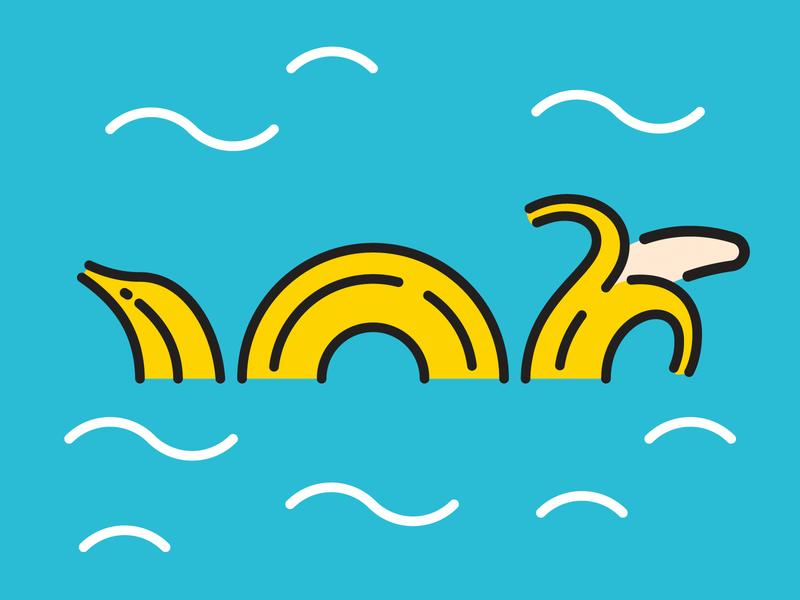 365 Banana Challenge design vector illustration 365 challenge