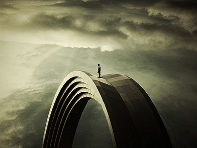 Time manager person personality crowd cover photo surreal architecture arc illustration photoshop photomanipulation 3d