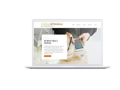 Cooking & Thinking by Isabel McLean website web design agency webdesign wordpress blog logo minimalist logo branding web design minimal
