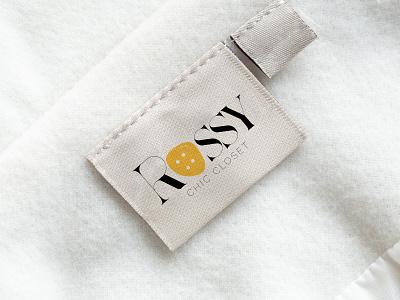 ROSSY Chic Closet Logo & Brand Identity vector typography minimal minimalist logo logotype brand identity identity illustration web design agency design branding logo