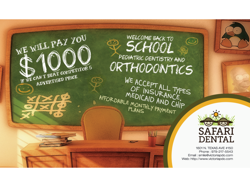Safari Dental print design corporate design adobe illustrator cc photoshop flyer design