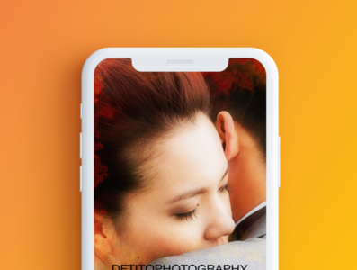Detito Wedding Photography mobile design mobile ui ux photoshop ui