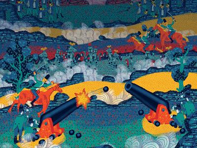 The battlefield music video animation illustration
