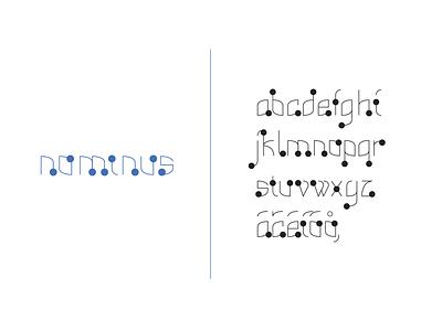 Nominus letters typography design