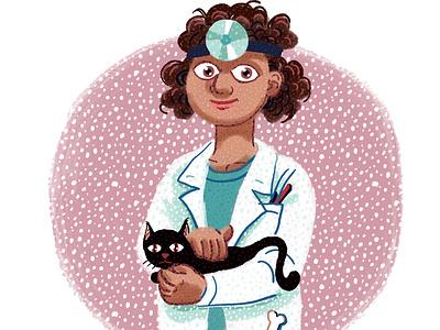 Pet doctor veterinarian illustration pet doctor