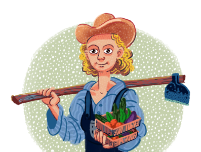 The farmer girl, Illustration from psycholocial profile theme. farmer illustration
