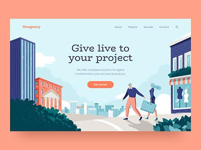 Web Design Exploration clean website promo vector simple homepage web design site design illustration