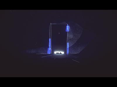 Inside - Styleframe animation cel door dark prison cell illustration