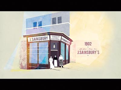 1902 - The first shop texture shop old vintage motion cel illustration