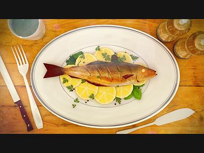 MSC   Ocean To Plate sustainability ocean msc set table lemon plate wood fish textured illustration motion