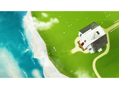 Time for yourself illustration time chapel book rocks white cliff countryside