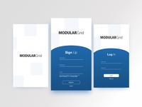 ModularGrid App Sign-Up Mockup design mobile signup ui dailyui dailyui 001